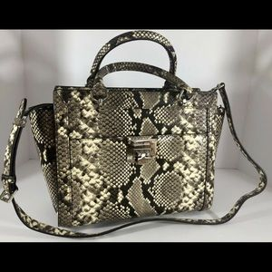 Michael Kors Tina Large Satchel Python Snake Purse